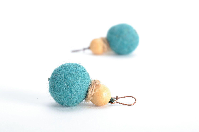 Wool felt earrings photo 4