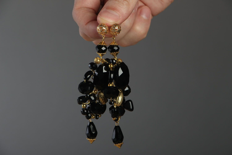 Long crystal earrings photo 4
