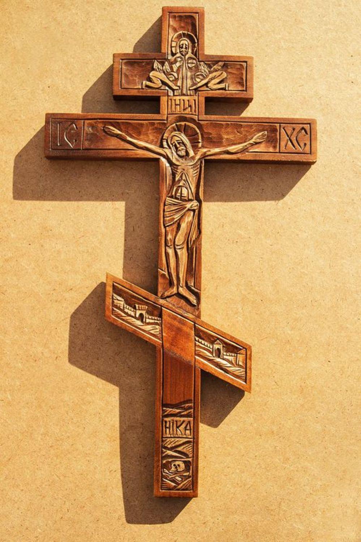 Как сделать на фото креста