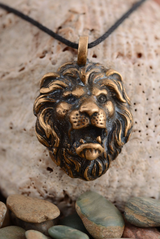 Handmade bronze pendant photo 2