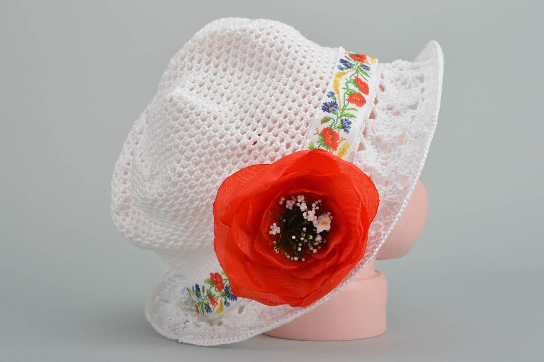 Designer unique girl crocheted hat handmade cotton headdress present for kids photo 3