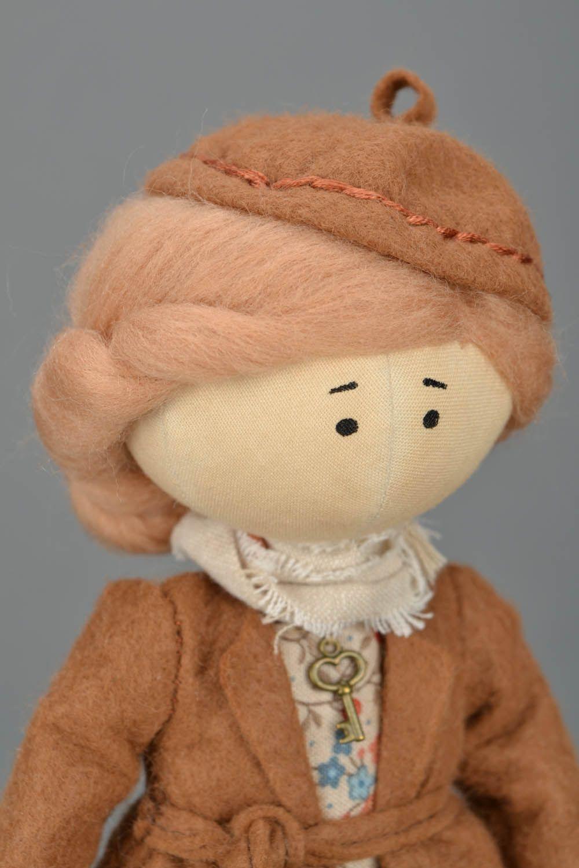 Handmade doll on stand photo 4