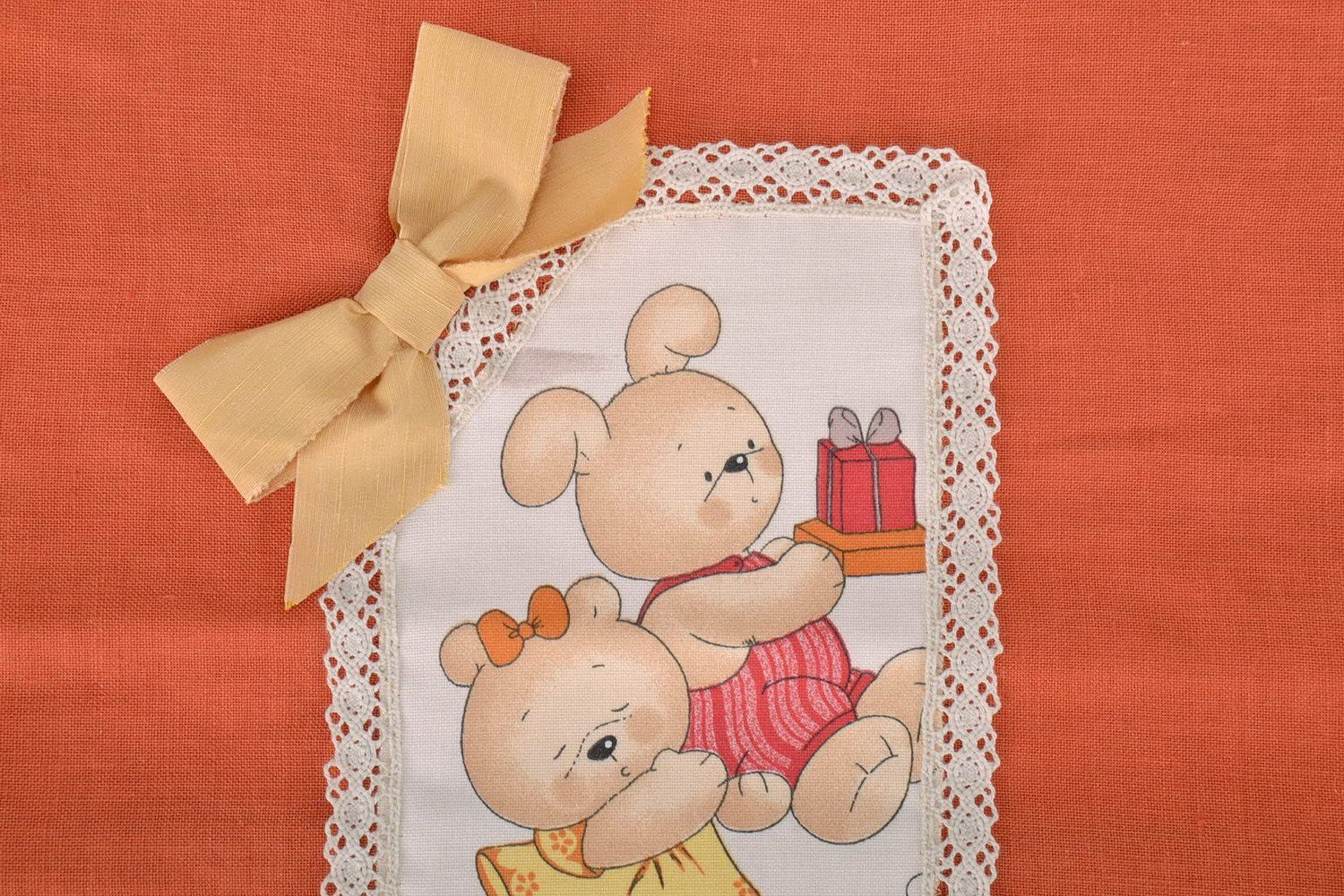 Cotton pillow-case with teddy-bears photo 2