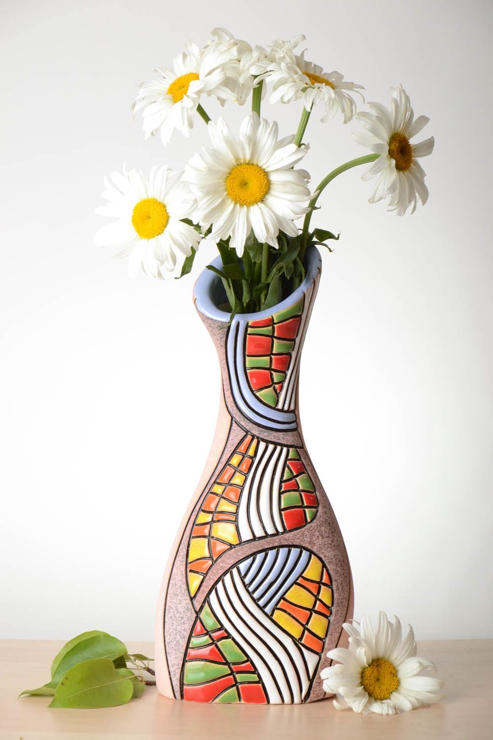 MADEHEART > Beautiful handmade ceramic flower vase pottery works ...