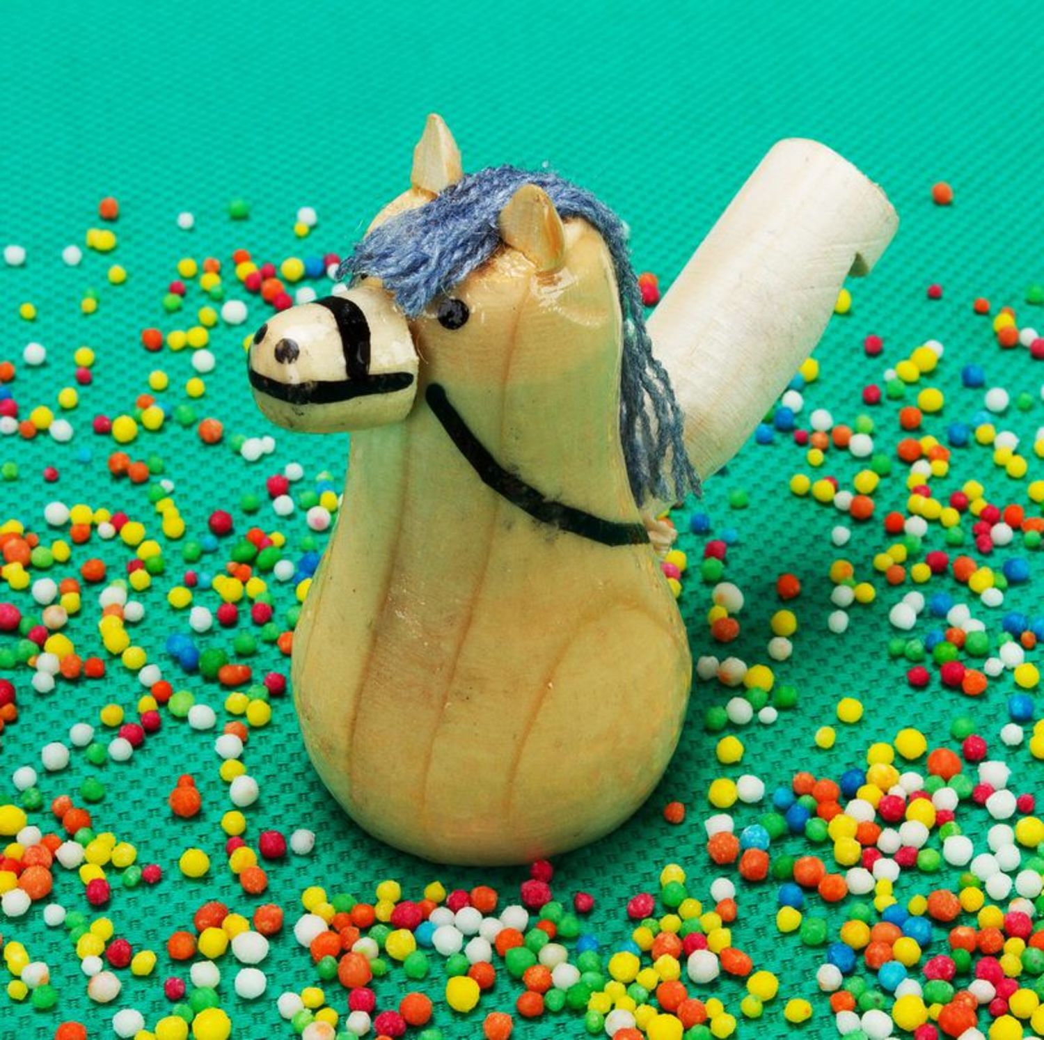 Wooden toy whistle Horse photo 1