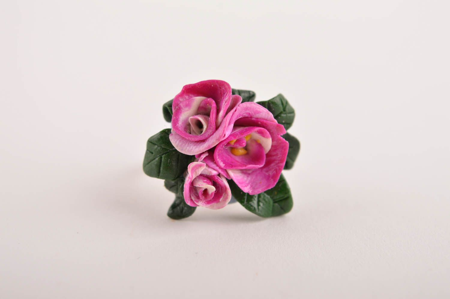 Unique ring handmade polymer clay designer ring seal ring fashion accessories photo 3