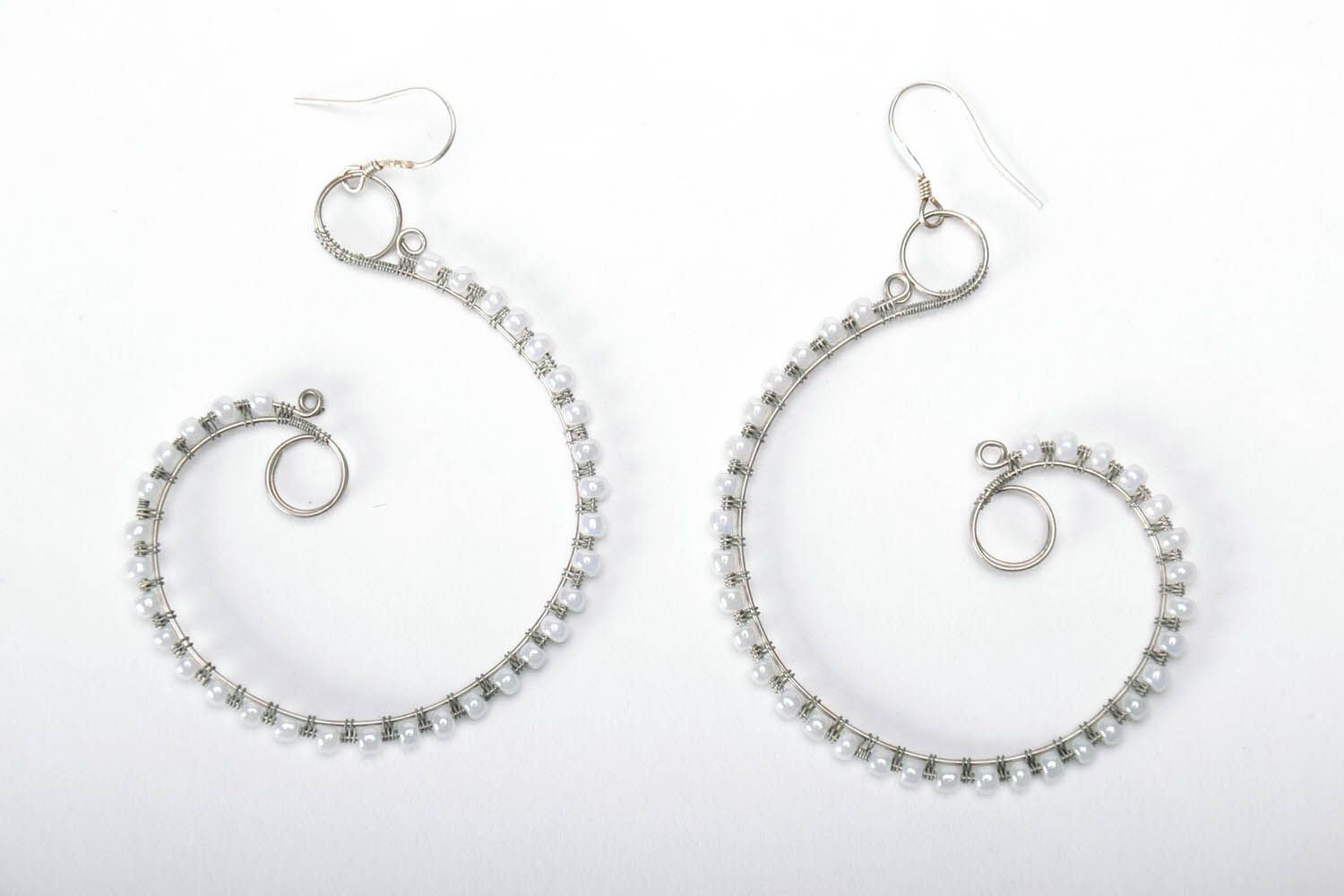 Earrings with natural stones photo 3