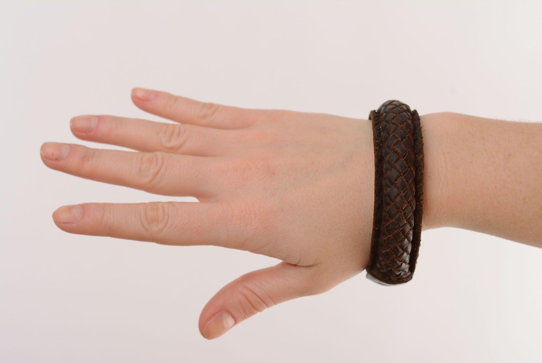 Leather braided bracelet photo 5