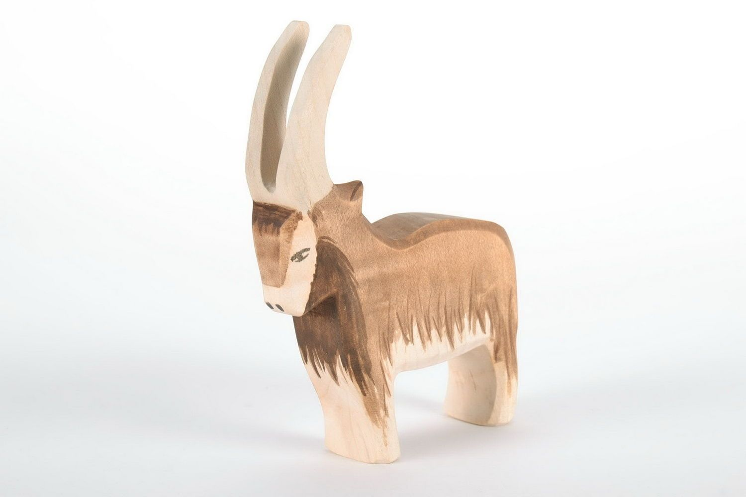 Wooden figurine Mountain goat photo 3