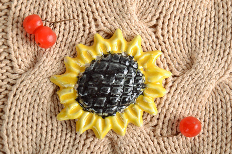 Fridge magnet in the form of sunflower photo 1