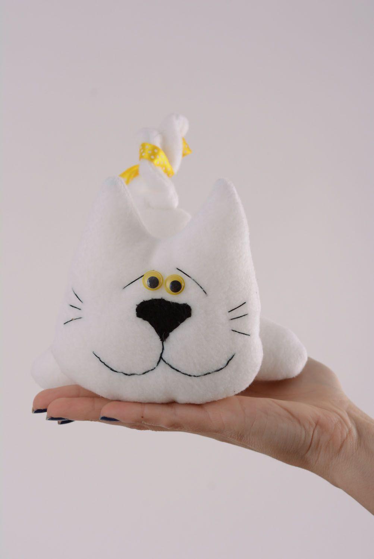 Soft fabric toy White Cat photo 4