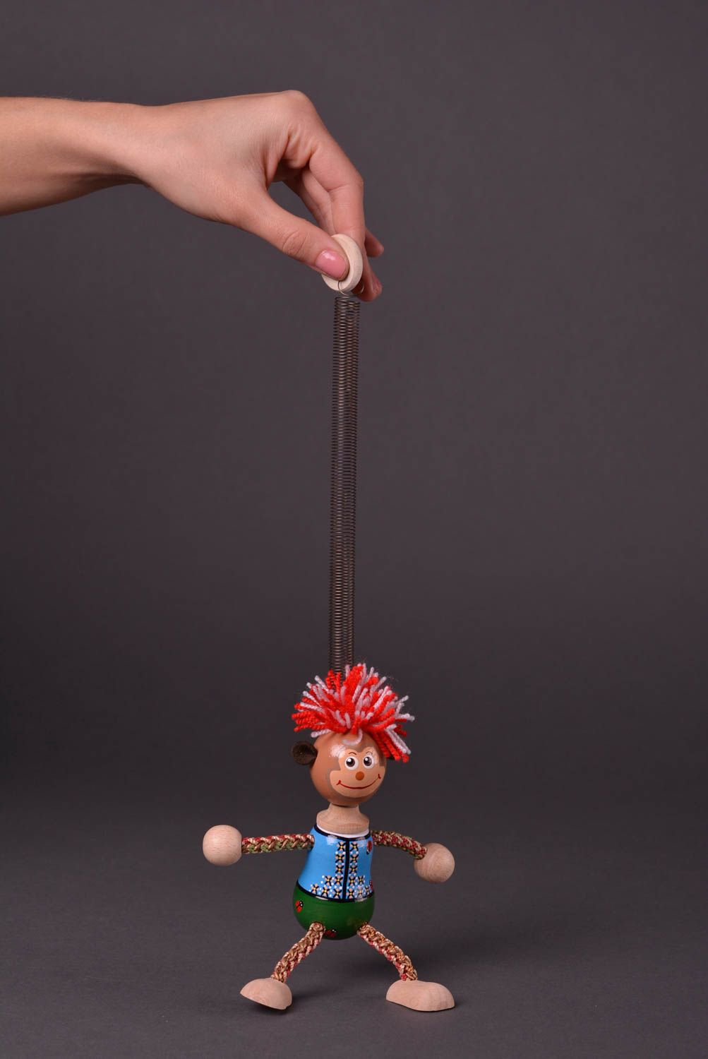 Handmade wooden toy unusual designer accessories beautiful lovely doll photo 2