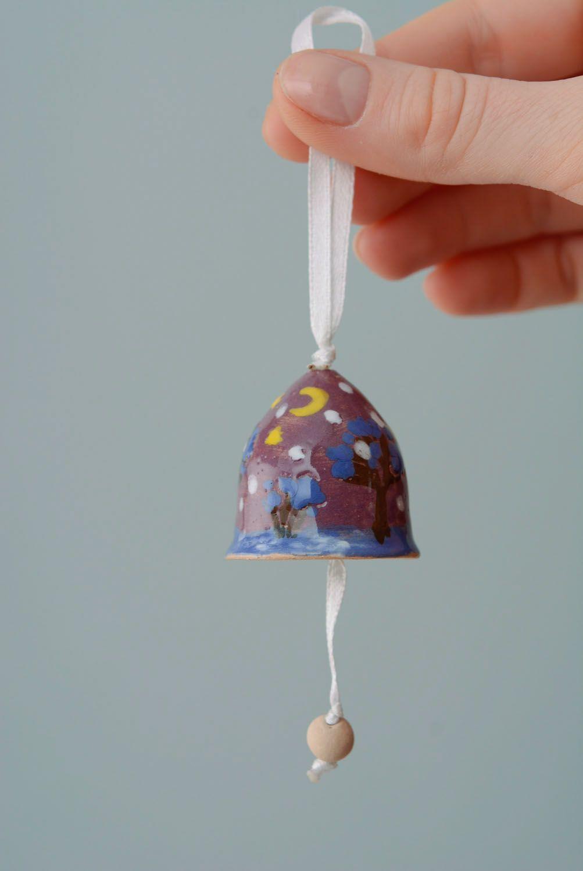 Handmade painted bell photo 4