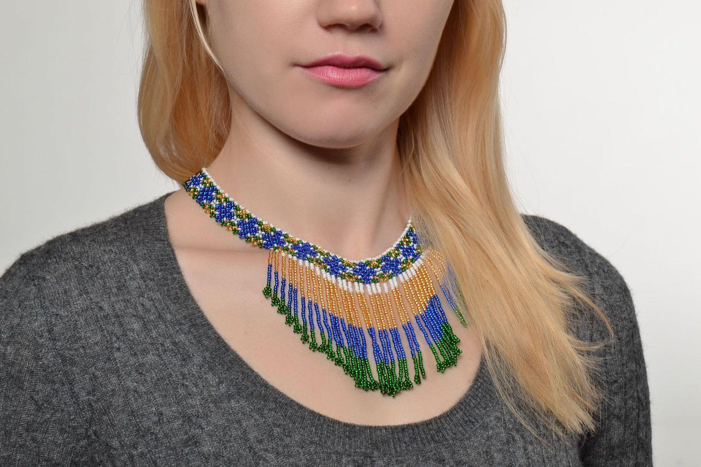 Homemade beaded necklace photo 5