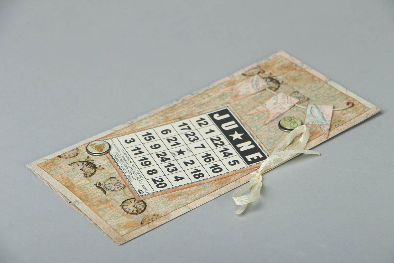 Homemade postcard for money June photo 2