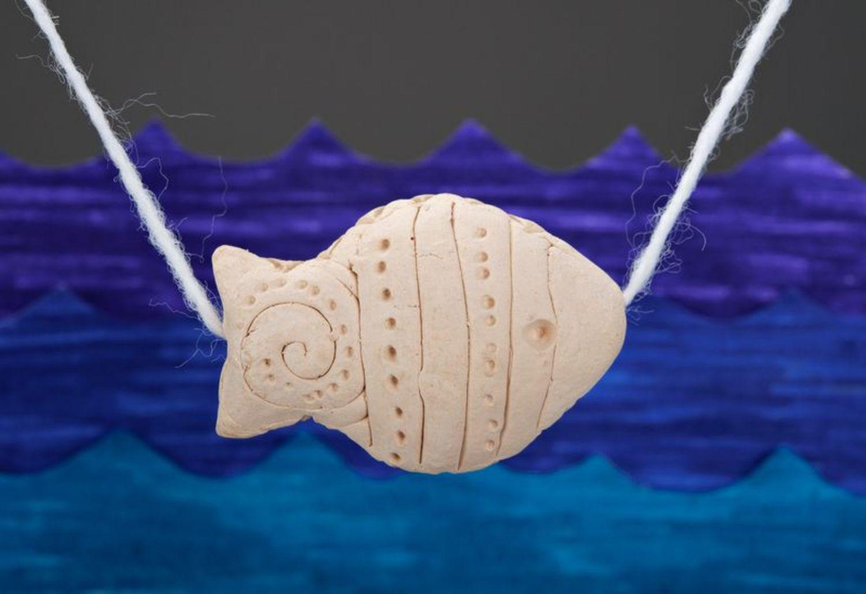 Clay pendant Fish photo 1