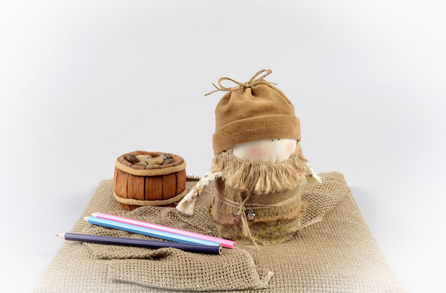 Handmade decorative doll primitive doll housewarming gifts for decorative use photo 5