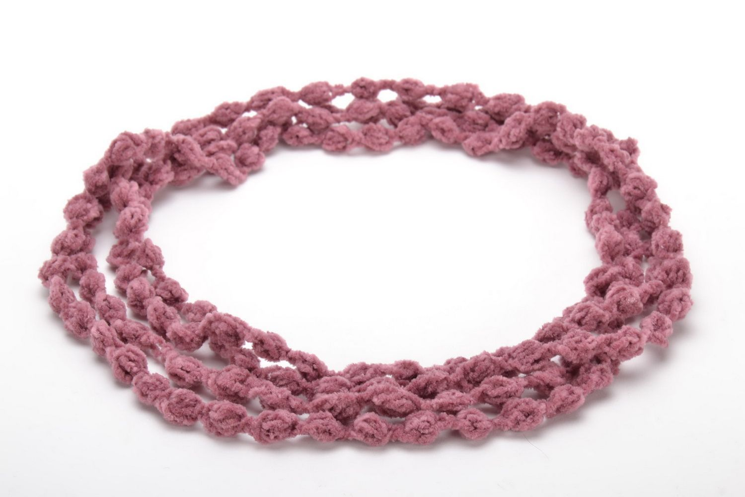 Crochet multi-row necklace photo 3