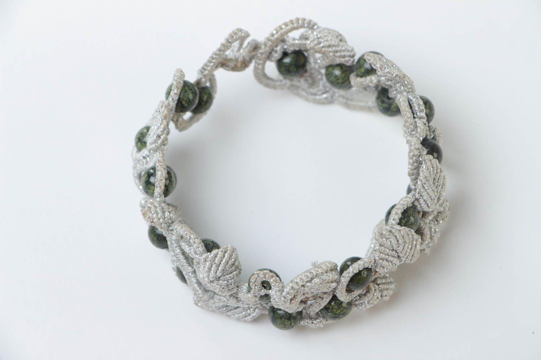 Armband aus Stoff handgemacht Damen Armband effektvoll Schmuck für Frauen foto 2