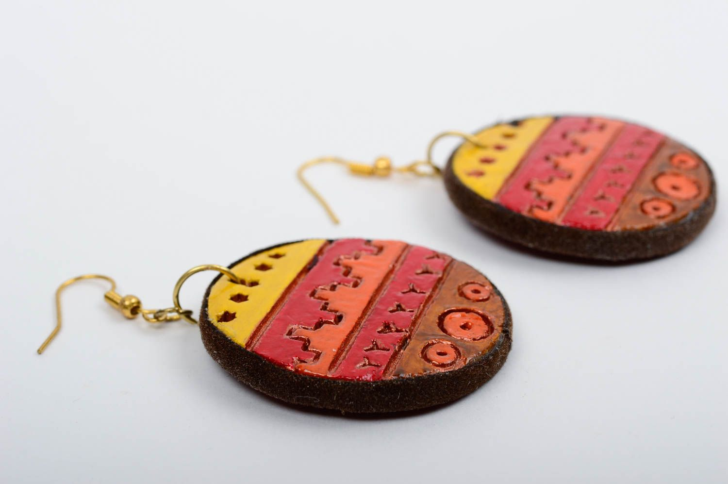 Unusual handmade clay earrings ceramic earrings fashion accessories for girls photo 2