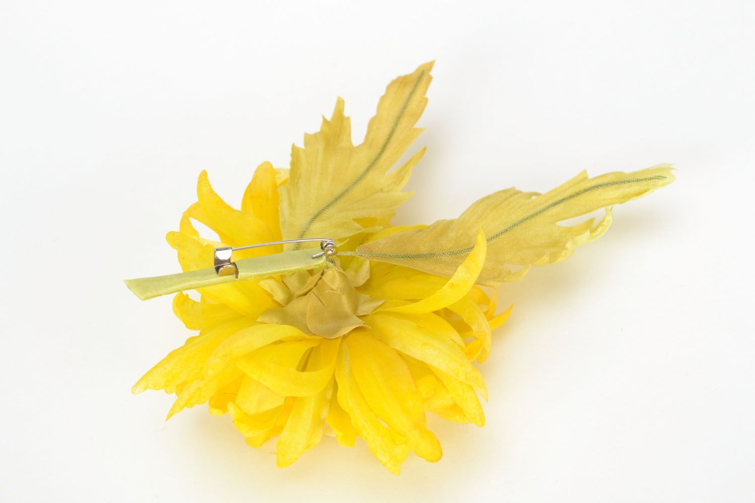 Textile brooch Golden Daisy photo 5