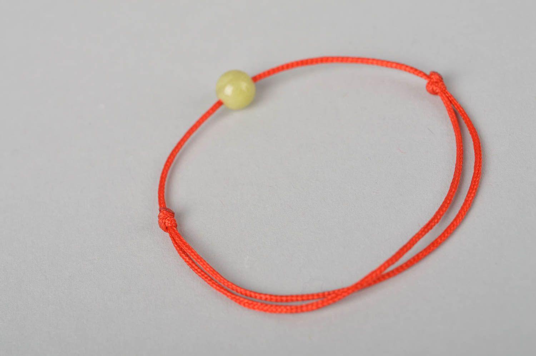 Украшение ручной работы модный браслет с оливковой бусиной красивый браслет фото 5