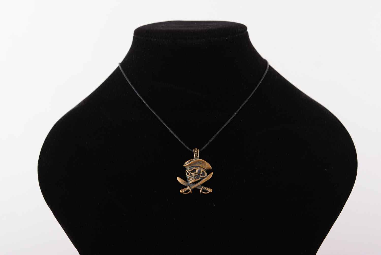 Bronze pendant Pirate's Skull photo 5