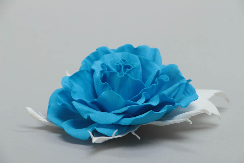 Цветы из синего фоамирана фото
