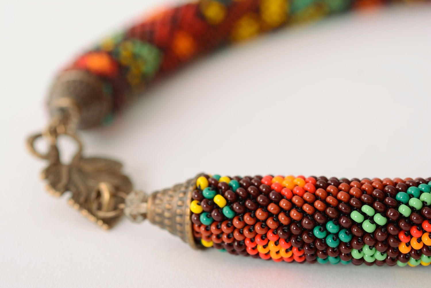Beaded cord necklace photo 5