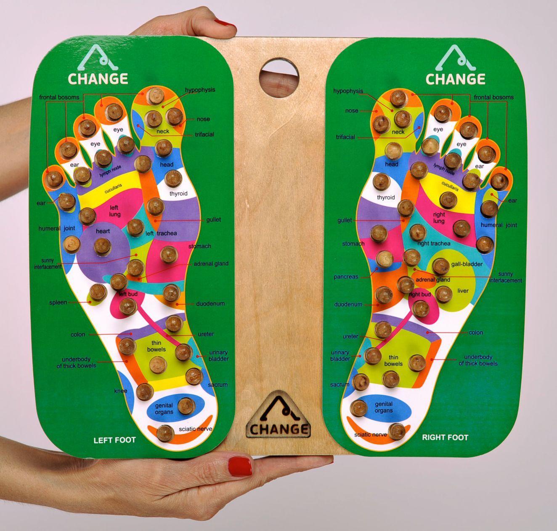Wooden foot massage tool photo 1