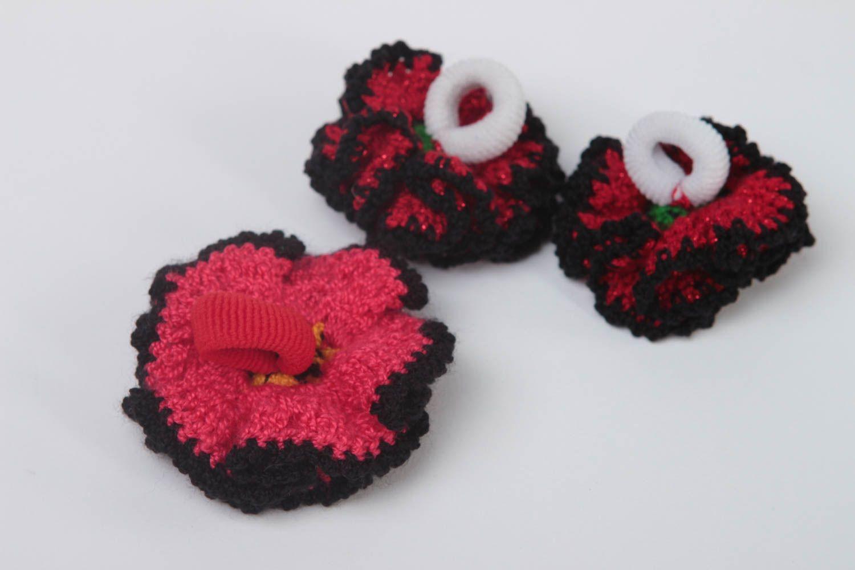 Handmade hair ties for kids 3 cute hair ties stylish children accessories photo 4