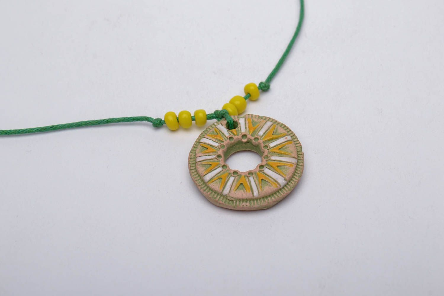 Bright clay pendant photo 5