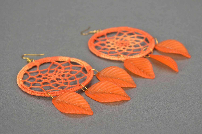 Crochet earrings Dream Catcher photo 4
