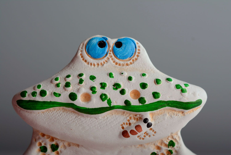 Ceramic fridge magnet Frog photo 2