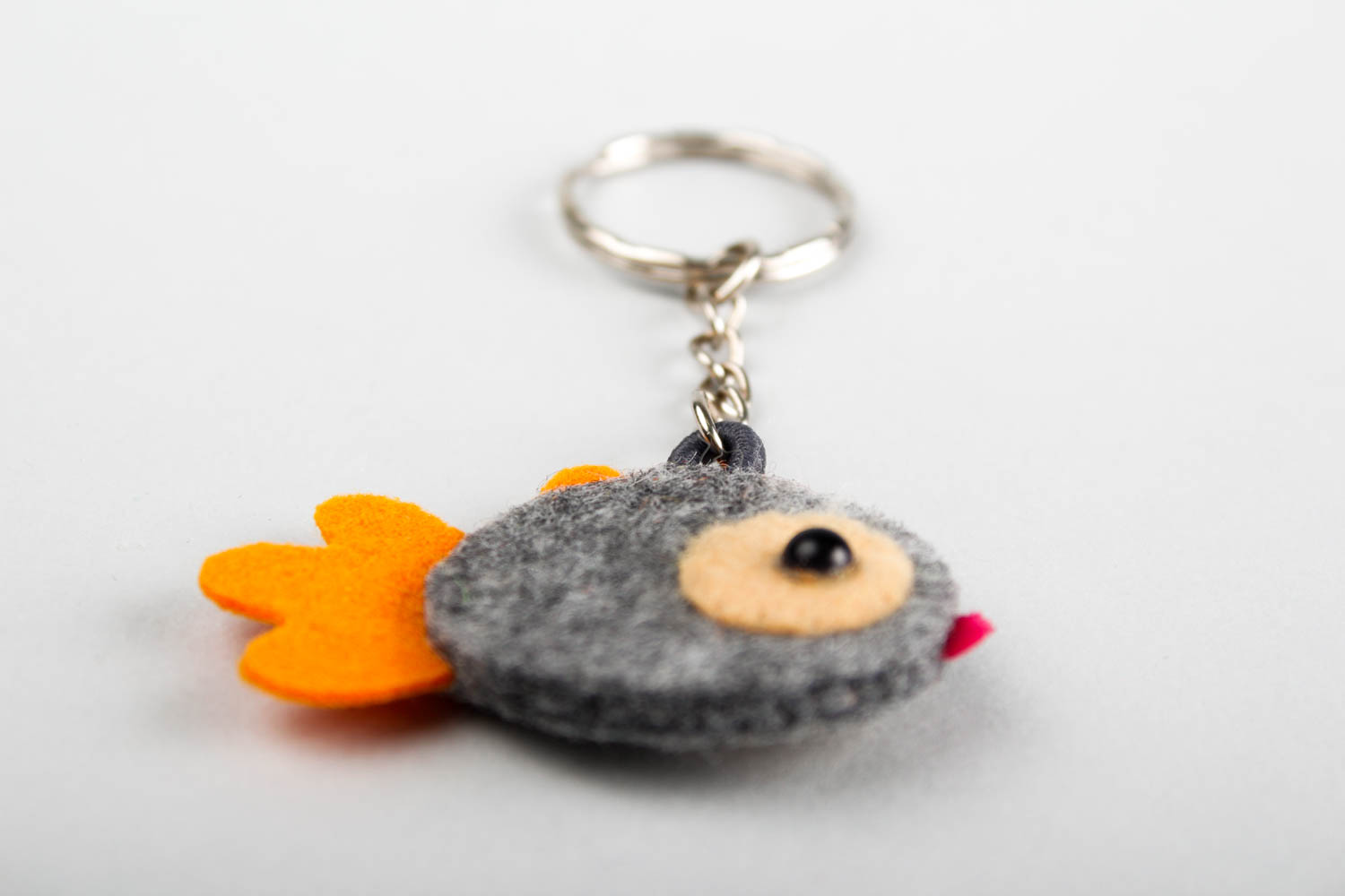 Funny toys handmade woolen keychain felted toy key ideas present for kids photo 3