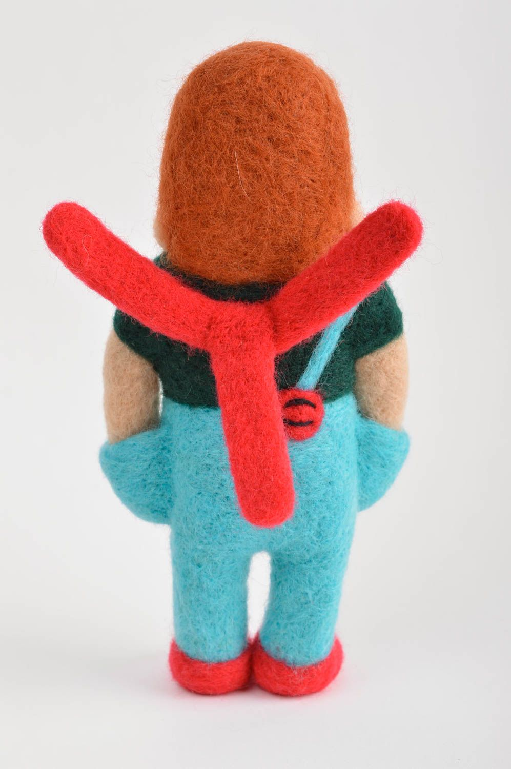 felted toys Handmade cute woolen toy unusual beautiful bright toy unusual interior decor - MADEheart.com