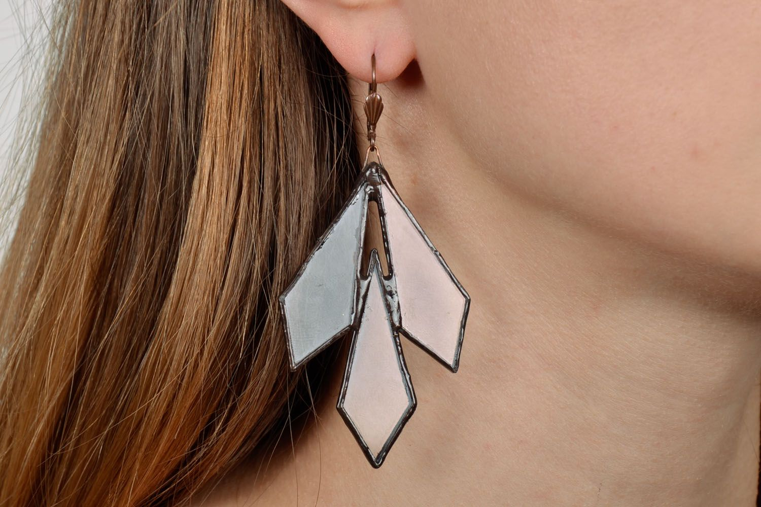 Stained glass earrings  photo 2