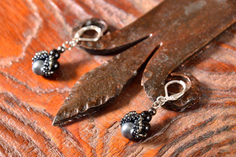 Lange Ohrringe in Schwarz foto 1