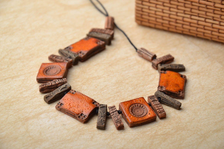 Ethnic ceramic necklace photo 1