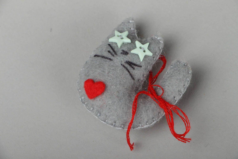 Homemade felt magnet Star Cat photo 1