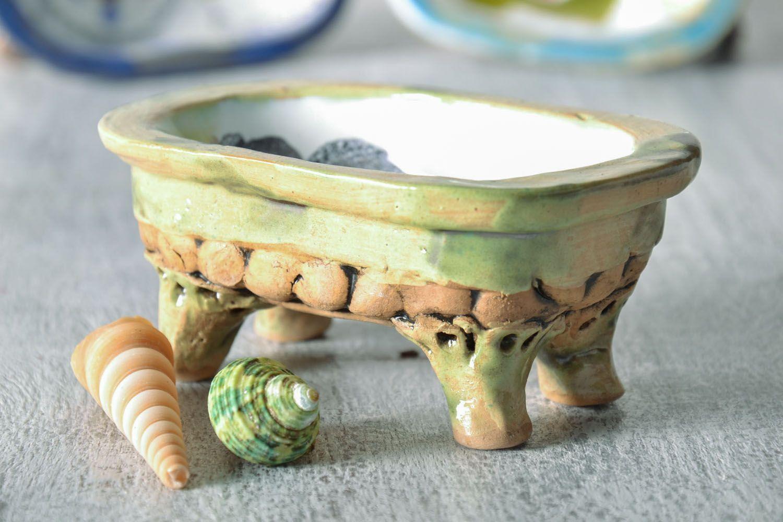 Ceramic soap dish photo 1