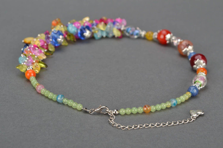 Bright homemade necklace photo 5