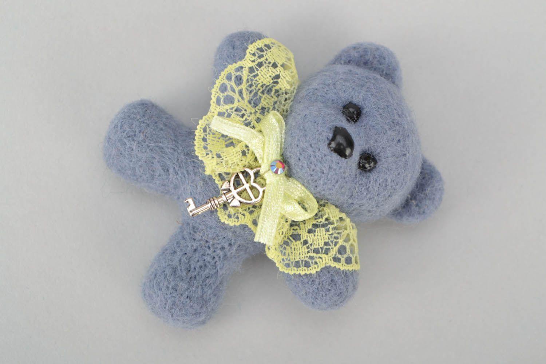 Woolen brooch Bear photo 4