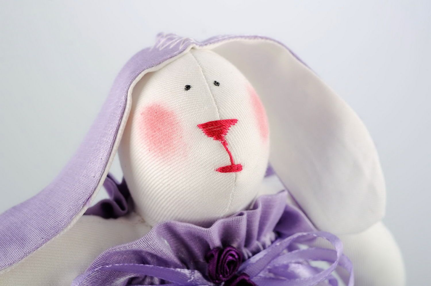 Soft toy Hare girl photo 4