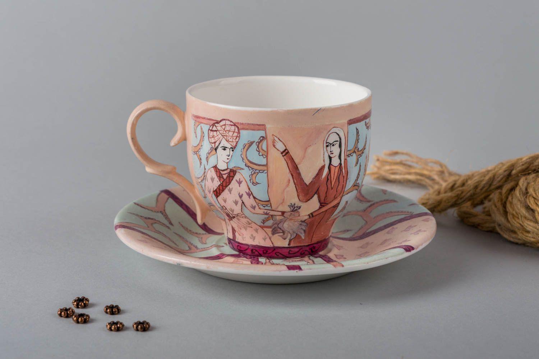 Madeheart taza decorada hecha a mano cer mica artesanal vajilla moderna original - Vajilla ceramica artesanal ...