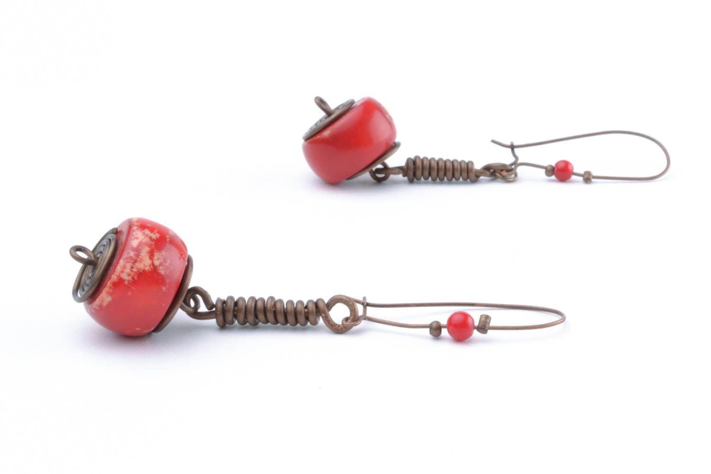 Copper earrings I'm so! photo 2
