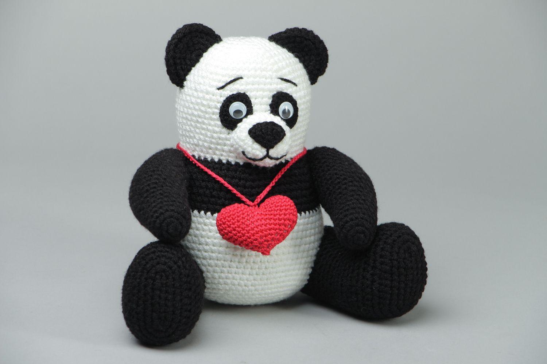Вязание игрушки панды крючком 44