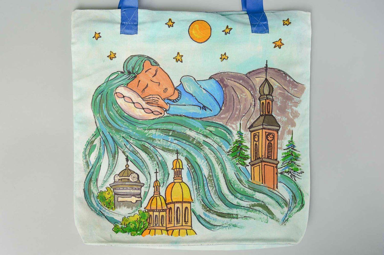 Designer bag handmade shoulder bag for women shoulder bag with painting photo 4