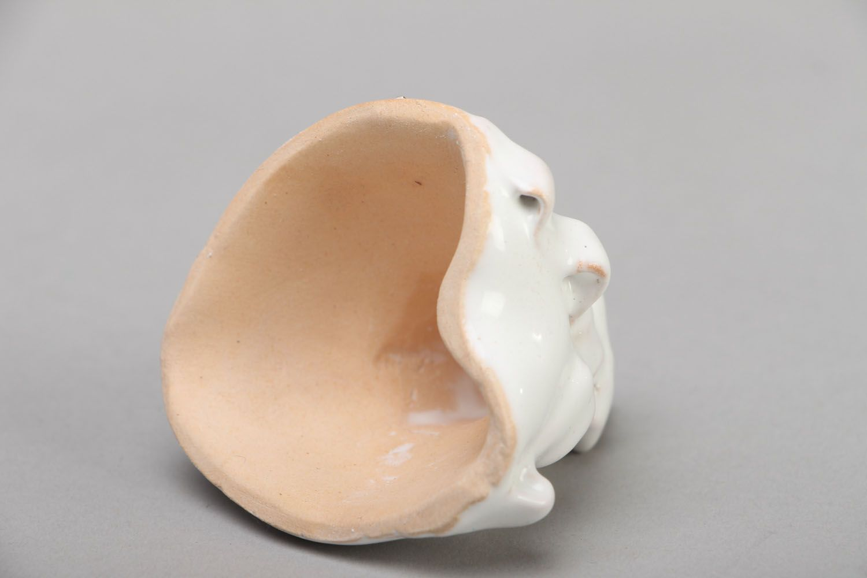 White ceramic bell photo 3