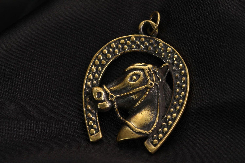 Bronze Anhänger Hufeisen foto 1
